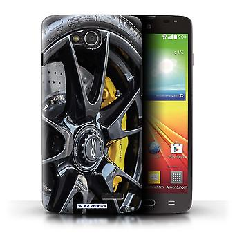 STUFF4 Case/Cover for LG L90 Dual/D410/Black/Yellow/Alloy Wheels