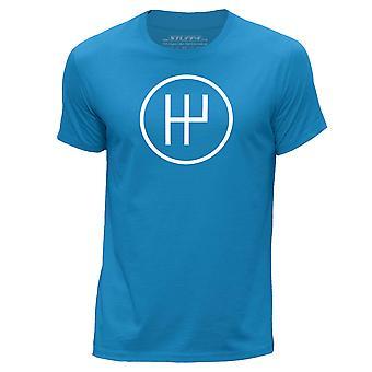 STUFF4 Men's Round Neck T-Shirt/Petrol Head / 5 Speed Gearbox/Blue