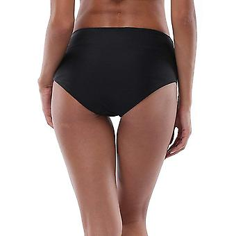 ALove Women Black Bikini Shorts High Waist Board Short, Black, Size Large