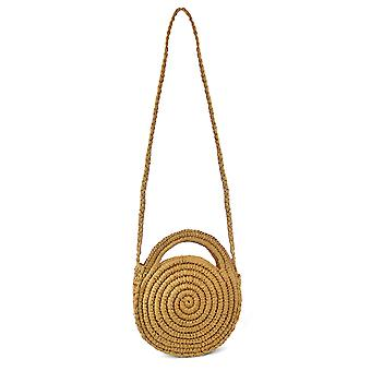 Luna Cove Womens/Ladies Handmade Round Paperstraw Bag