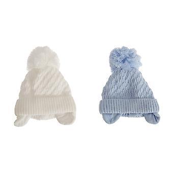 Baby jongens gehaakte Winter oor Warmer bobbel hoed