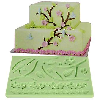Lace Silicone Fondant Mold Wedding Cake Mould Decoration Borders Baking With Leaves Flowers Garlands