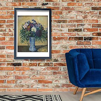 Paul Cezanne - Flowers in a Blue Vase 1877 Poster Print Giclee