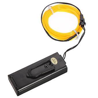 1m 10 colores 3v flexible neón el alambre luz danza fiesta decoración luz batería de motor de la batería