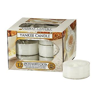 Yankee Candle Tea Light Candles Spiced White Cocoa