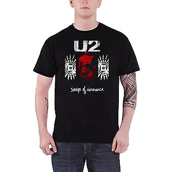 U2 T Shirt Songs Of Innocence Red Shade band logo new Official Mens Black