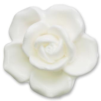 Florex Plantaardige Olie Zeep - Rose Luxury White - Floral Scented Rose Scent Soap in Rose Shape Gift 125g