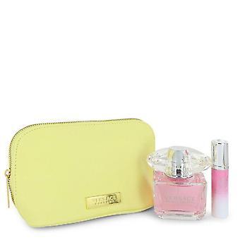 Heldere Crystal Gift Set door Versace 3 oz Eau De Toilette Spray + 0.3 oz Mini EDT Spray In Versace etui