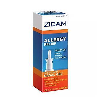 Zicam 过敏缓解顺势疗法无滴鼻凝胶,0.5 盎司