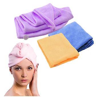 Tulband/microfiber handdoek voor haar (roze)