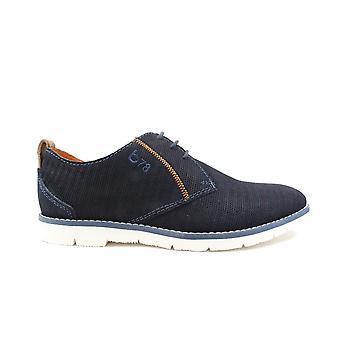 Bugatti 311-91901-4000 Blauwe Textiel Heren Veter schoenen