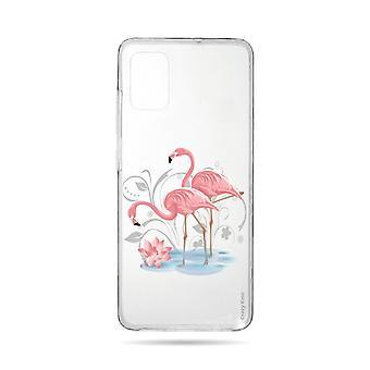 Runko Samsung Galaxy A71 Pehmeä Flamingo Rose