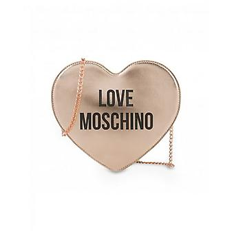 Love Moschino Accessories Metallic Heart Chain Crossbody Bag