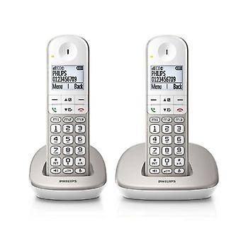 "Bezdrátový telefon Philips XL4902S/22 1,9"" 550 mAh GAP (2 ks) Bílá"