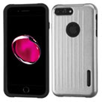 ASMYNA Carry-On Hybrid Protector Case for Apple iPhone 8/7 Plus - Silver/Black