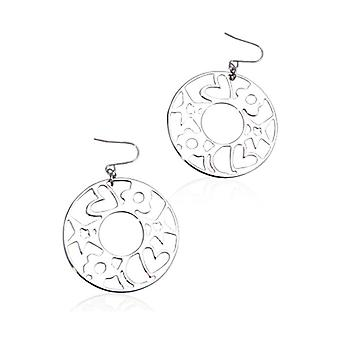Kvinners apos;s øredobber i lakkert metall Agatha Ruiz De La Prada 147082/Silver