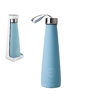 B&Co 450ml Rubberised Conical Bottle Flask Duck Egg Blue