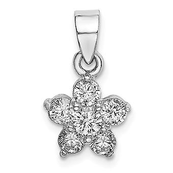 925 plata esterlina Rhodium plateado CZ Cubic Zirconia simulado diamante estrella motivo colgante collar regalos de joyería para Wom