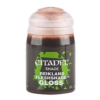 Shade:Reikland Fleshshade Gloss 24ml ,Citadel Paint Shade, Warhammer 40,000