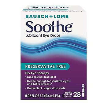 Soothe lubricant eye drops, preservative free, 28 ea