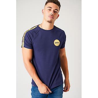 Tape detail navy t-shirt