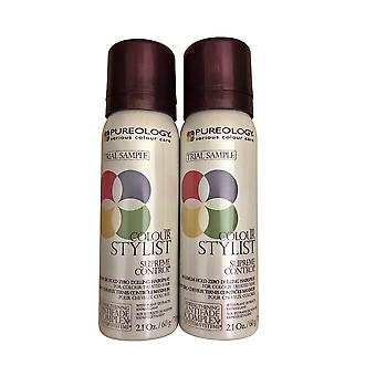 Pureology Colour Stylist Supreme Control Hairspray Duo 2.1 OZ Chacun
