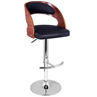 Wooden Bar Stool w/ PU Leather Seat