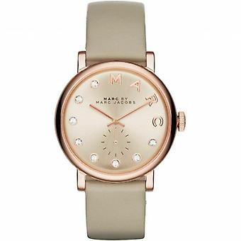 Marc Jacobs MBM1400 Baker Rose Gold Dial Grey Leather Ladies Watch