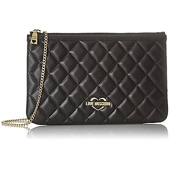 Love Moschino Bag Quilted Nappa Pu Black Gal.gold - Multicolored Women's Shoulder Bags (Black-gold) 1x18x28 cm (B x H T)
