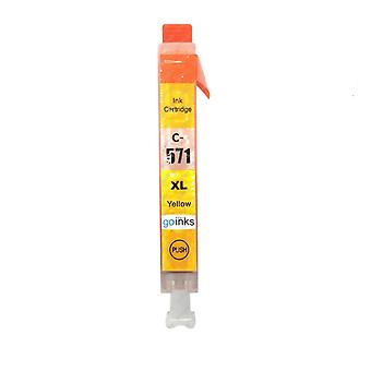 1 Cartucho de tinta amarilla para reemplazar la Canon CLI-571Y Compatible/non-OEM de Go Inks