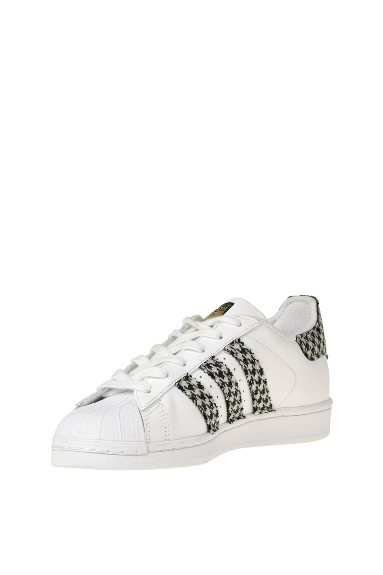 Adidas By Dressed Ezgl142010 Women's White Leather Sneakers - Gratis verzending cY2twu