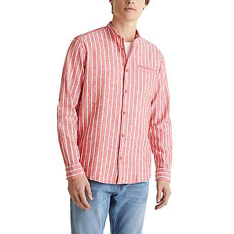Esprit Men's Linen Blend Striped Πουκαμισο Regular Fit Ανδρικο
