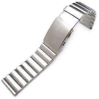 Bracciale orologio Strapcode 24mm bandoleer 316l dritto in acciaio inox uscita fascia subacquea rinnova la fibbia