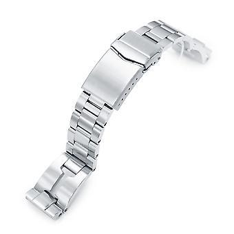 Strapcode klocka armband 20mm retro rakhyvel 316l rostfritt stål klocka armband för seiko sbdc053 aka modern 62mas, borstad v-lås