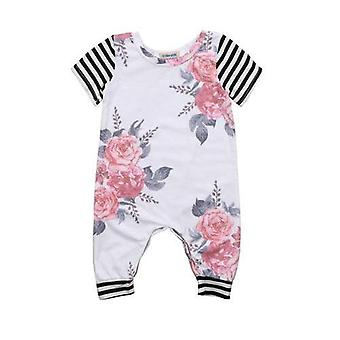 Baby Girl Short Sleeve Floral Romper