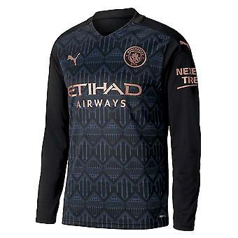 2020-2021 Manchester City Puma Away langermet skjorte