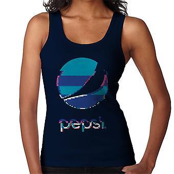 Pepsi Glitch pinottu logo naisten liivi