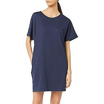 Meraki Women's Loose Fit Short Sleeve Shift Dress with Pockets, Navy, EU M (US 8)