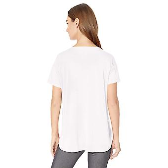 Essentials Women's Studio Relaxed-Fit Lightweight Crewneck T-Shirt, -blanc, Petit