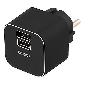 Wall charger, 3.1A, 2xUSB ports