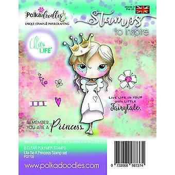 Polkadoodles Ula Be a Princess Clear Stamps