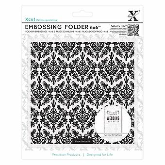 "Xcut 6 x 6"" Embossing Folder - Damask Background"