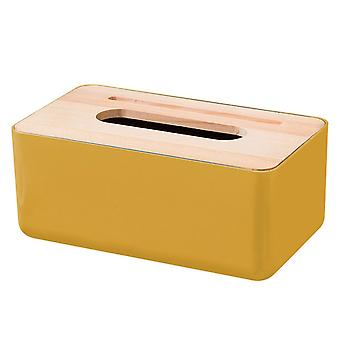 Plastic Tissue Box 23x13x10cm Yellow