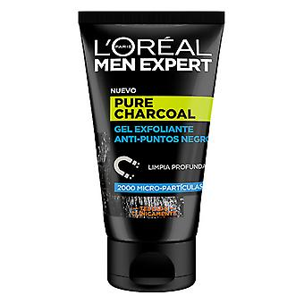 Facial Exfoliator Pure Charcoal L'Oreal Make Up (100 ml)