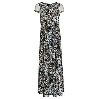 Attitudes by Renee Dress Printed Maxi Dress Black A375406