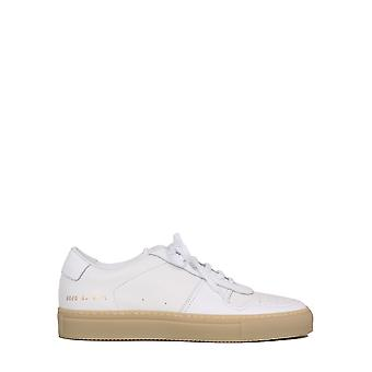 Common Projects 21580506 Heren's White Leather Sneakers