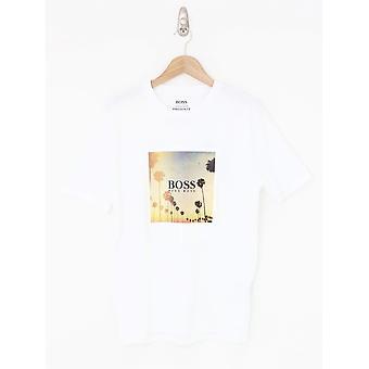 BOSS Casual Tsummer 4 Print Tee - White