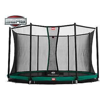 BERG InGround Champion 380 12.5ft Trampoline + veiligheidsnet Comfort groen