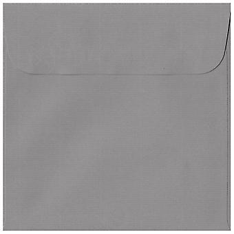 Graphite Grey Peel/Seal 160mm Square Coloured Grey Envelopes. 100gsm Swiss Premium FSC Paper. 160mm x 160mm. Wallet Style Envelope.