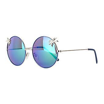 نظارات شمسية Unisex Cat.3 الفضة / الأزرق الأزرق (& نقلا عن amu19203b & quot;)